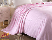 JIU MENG ER luxury handmade silk quilt comfortable with pink 100% cotton shell fabric