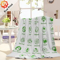 dropship colourful popular digital printing sublimation dubai blanket