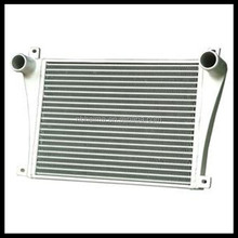Universal water to air intercooler 425x230x65mm delta fin scania Aluminum intercooler pipe