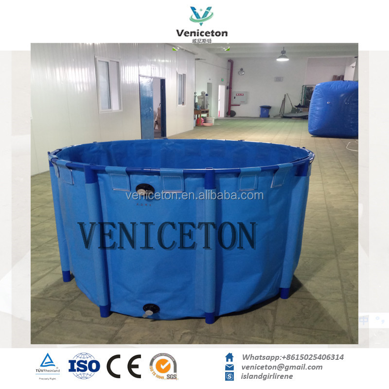 Veniceton High Quality 20 cubic meters plastic flexible pvc water tank with steel frame