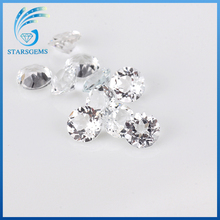 wuzhou factory wholesale natural topaz in loose gemstone round white diamond