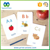 Good printing small round corners English letters fruit name pictures paper study cards