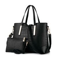China Online Shopping Women Shoulder Bag 2 Piece Tote Bag Pu Leather Handbag Purse Bags Set