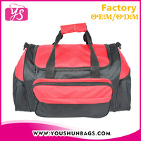 Red polyester easy travel bag