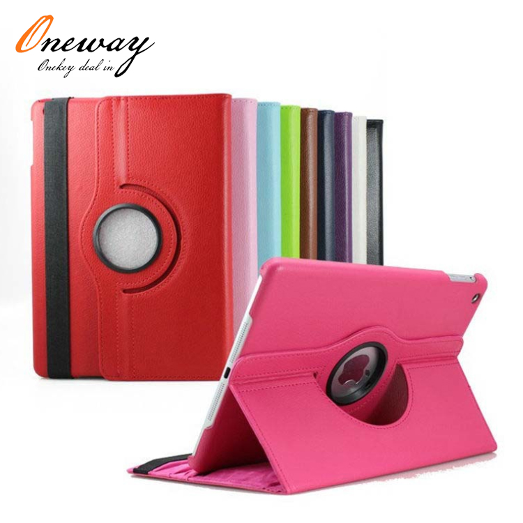 360 degree rotatable leather case cover for ipad 5th pc case leather cover for ipad case