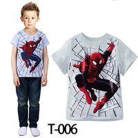 Kids Clothes 2015 Summer Wholesale Fashion Kid Boys Spiderman T-shirt