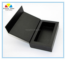 High quality Customized LOGO make up magnetic gift box cosmetic flocked tray packaing gift box