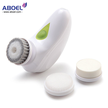 3 In 1 Travel Set Vibrating Sonic Rotary Spin Rechargeable Facial Cleansing Brush
