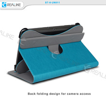 360 degree rotating universal tablet leather case for ipad pro with two stand angles