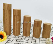 Natural cosmetic packaging 30ml/50ml/80ml/100ml/120ml/150ml empty lotion bottle bamboo cover with pump