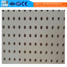 Hot Sale! 595*595mm Lightweight soundproof white color acoustic perforated gypsum ceiling boards/panels with