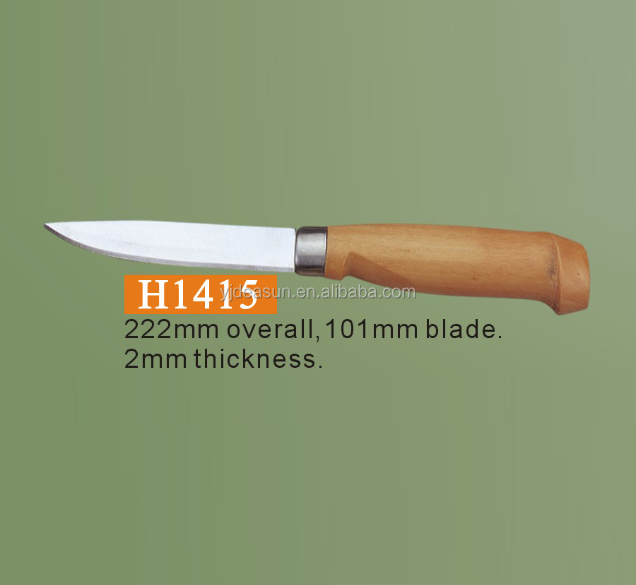 H1415 Fishing knife high quality wood handle fillet knife