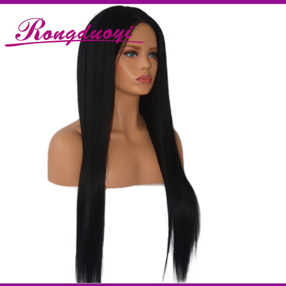 2016 Hot sale extra long silky straight human hair wig bald head wig with hair