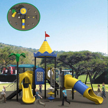 Outdoor Children Plastic deluxe Slide and Swing Set for Home use / outdoor commercial use