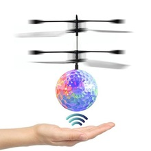 2017 New Kids Toy RC Flying Ball Flashing Light Helicopter inductive sensor LED flying ball