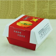Disposable custom printing folding paper hamburger box(custom printing MOQ 5000 pieces)