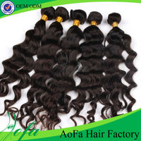 Grade 5A Virgin brazilian natural weave extension curly hair extension for black women