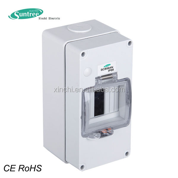 China manufacturer direct IP66 power distribution box for electrical meters have a DIN rail for breaker mount