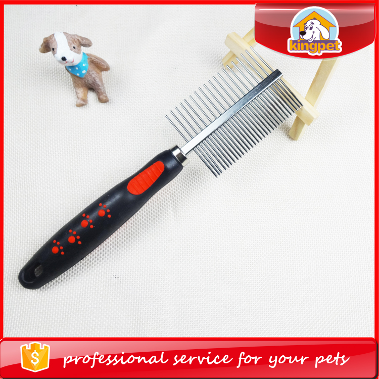 Electric steel dog hair grooming brush double pet comb