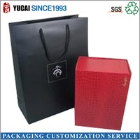 Black paper retail shopping bag