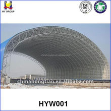 Prefabricated steel structure space frame coal storage warehouse