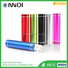 Portable mobile power bank 2600 , Mini lipstick power bank usb . charger 18650