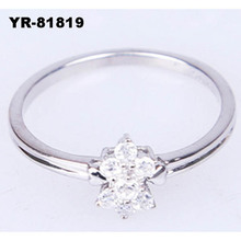Fashion highly polished AA white gold diamond wedding ring