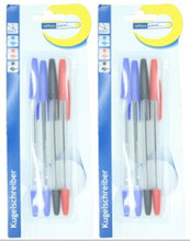 4 pcs one set blister card packing simple pen
