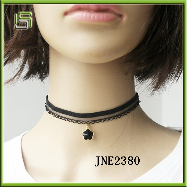 New Fashion Tattoo Lace Black Choker Collar Necklace