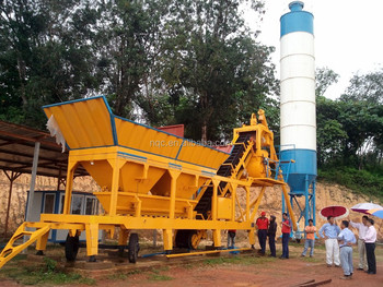 YHZS25/35/50/75 Mobile concrete batching plant