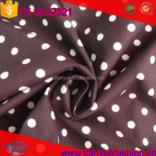 classical custom polka dot design prints 100 t-shirt english cotton fabric