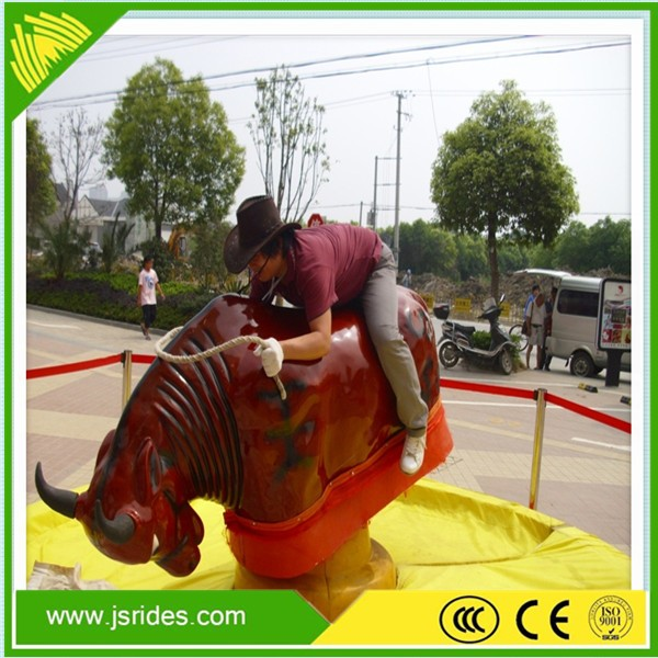 Promotional inflatable mechanical bull rodeo for adult ride