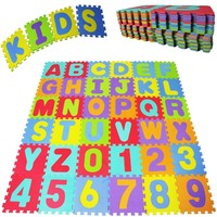 36pcs/lot baby lkids puzzle play mat Alphabet Letters Numbers Floor Soft Baby Mat 3D Puzzle Kids Educational Toys
