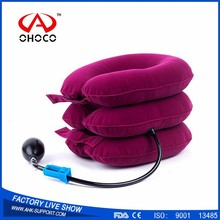 Cervical Traction Apparatus Air Inflatable pump Pillow Neck Support Brace