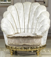 Lovely New Classical Style High Back White Round Sofa, One Seat in Shell Shape for Living Room BF11-12041a