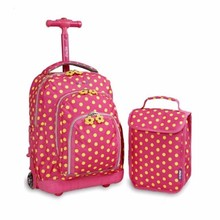 New design Beautiful Trolley Kids School Bags With Wheels