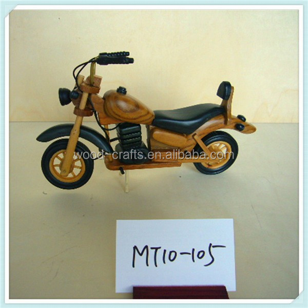 small wooden mini toy motorbike
