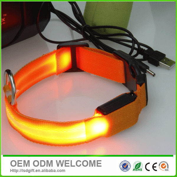 led rechargeable training dog collar
