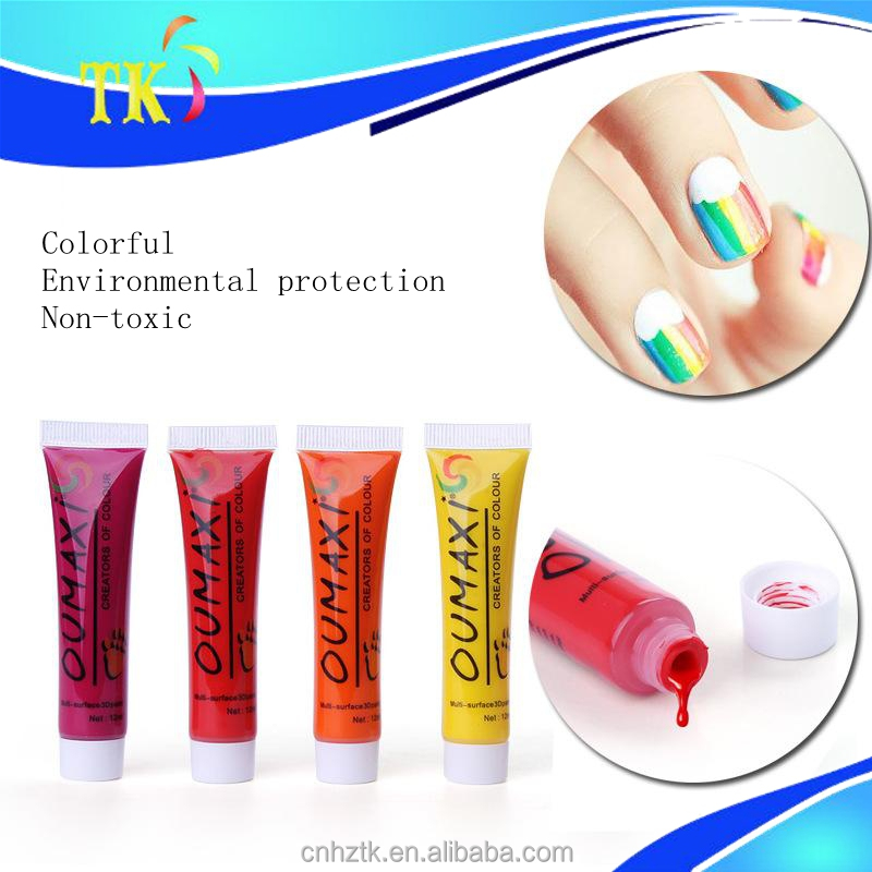 Nail painting pigment acrylic paint/12 color nail art special drawing paints
