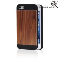 phone accessory Natural for iphone 5 case cherry wood walnut wood cases