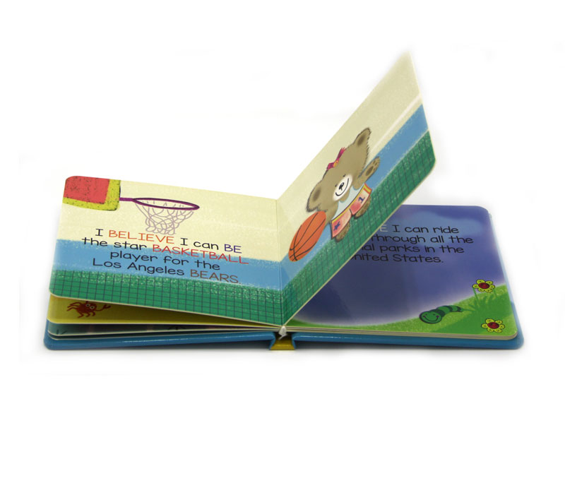 custom english story coloring die cutting cardboard book printing