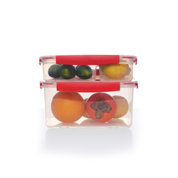 Custom portable plastic leakproof 3 compartment lunch bento box for kids