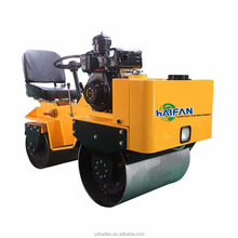Double drum vibratory mini road roller compactor