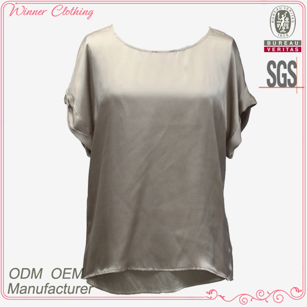 High quality beautiful 100% silk elegant models blouses fashion in 215