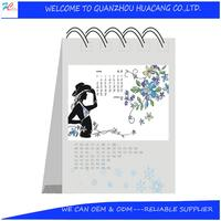 Customized digital desk calendar/creative desktop calendars/acrylic desktop calendar