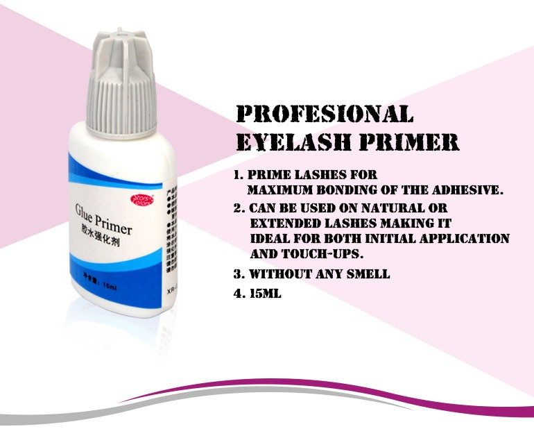 15ML no smell Maximum bonding of glue eyelash primer for lash extension