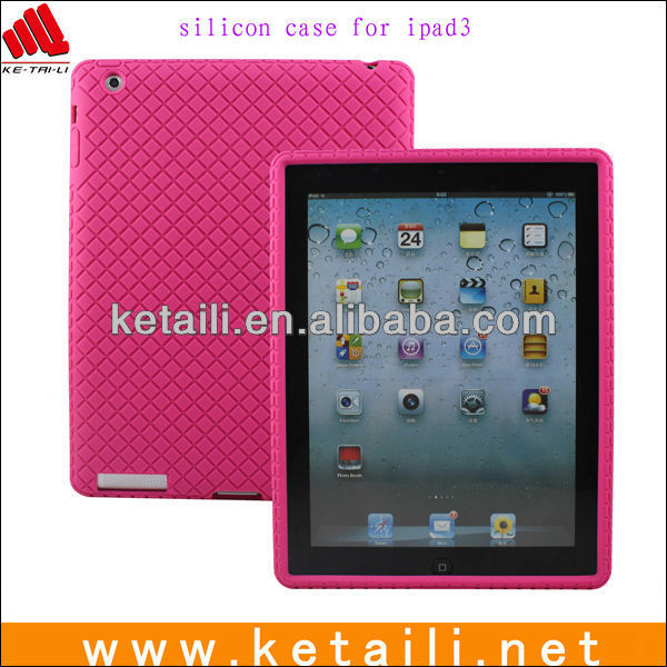 Smart cover silicone case for ipad 3