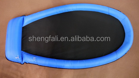 PVC inflatable water float with mesh for swimming/inflatable float mesh lounge for adults