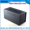 Black color diy iron box housing or metal enclosure for pcb