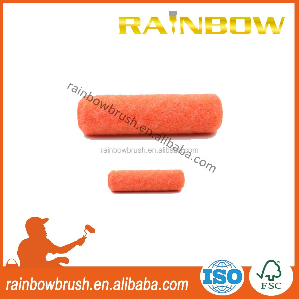 Orange polyester roller cover sleeve painting tools for sri lanka